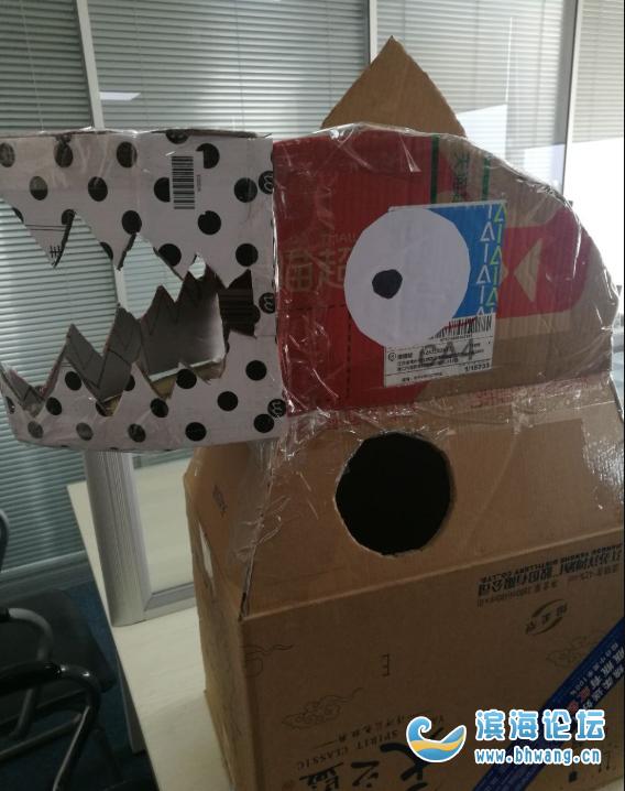 分享下我做的抖音同款纸箱恐龙